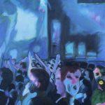 24 Images Seconde (Extrait Série Bleu), 2014, huile sur toile, 45x56 cm